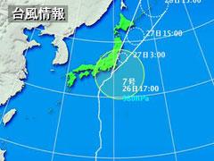 台風7号の天気図